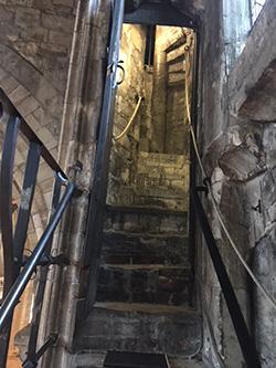 Seleby Abbey bell ringer steps