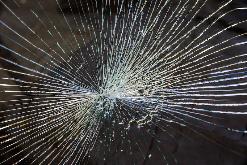Smashed Laminated Glass